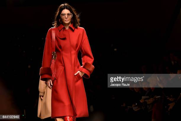 Kendall Jenner walks the runway at the Fendi show during Milan Fashion Week Fall/Winter 2017/18 on February 23 2017 in Milan Italy