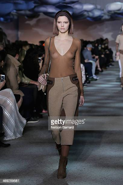 Kendall Jenner walks the runway at the Marc Jacobs fashion show during MercedesBenz Fashion Week Fall 2014 at the New York State Armory on February...