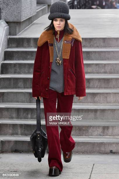 Kendall Jenner walks the runway at the Marc Jacobs Ready to Wear Fall Winter 20172018 fashion show on February 16 2017 in New York City