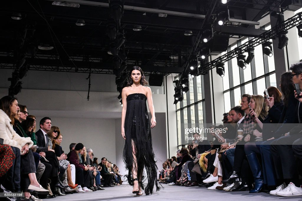 Kendall Jenner walks the runway at the Michael Kors Collection Fall 2017 show at Spring Studios on at Spring Studios on February 15, 2017 in New York City.