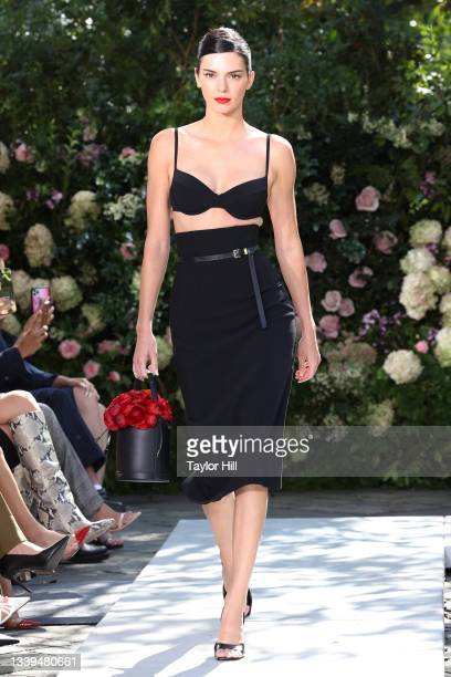 Kendall Jenner walks the runway at the Michael Kors S/S 2022 show during New York Fashion Week at Tavern on the Green on September 10, 2021 in New...