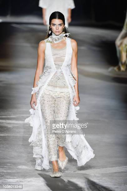 Kendall Jenner walks the runway at the Missoni show during Milan Fashion Week Spring/Summer 2019 on September 22 2018 in Milan Italy
