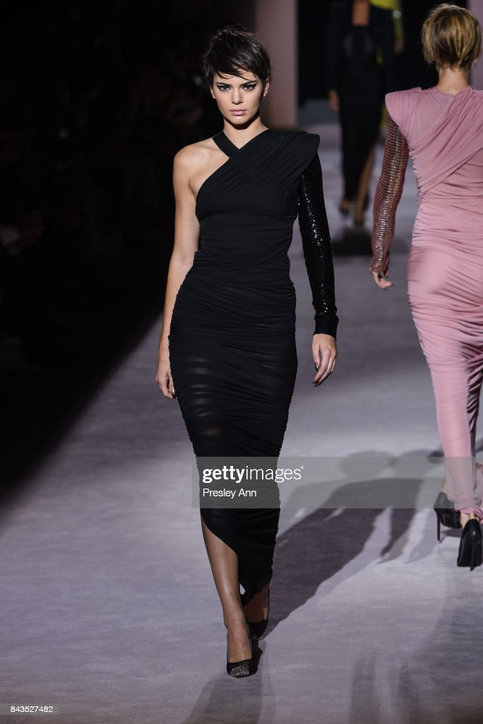 Kendall Jenner walks the runway at the Tom Ford show during New York Fashion Week at 643 Park Avenue on September 6, 2017 in New York City.