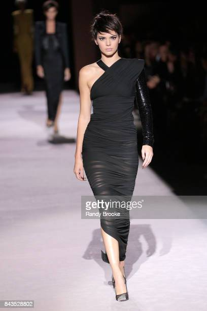 Kendall Jenner walks the runway at the Tom Ford Spring/Summer 2018 Runway Show during New York Fashion Week at the Park Avenue Armory on September 6...