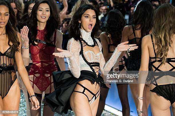 Kendall Jenner walks the runway at the Victoria's Secret Fashion Show on November 30 2016 in Paris France
