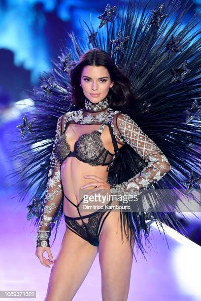 Kendall Jenner walks the runway during the 2018 Victoria's Secret Fashion Show at Pier 94 on November 8 2018 in New York City