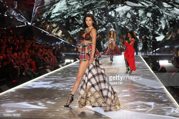 Kendall Jenner walks the runway during the 2018 Victoria's Secret Fashion Show at Pier 94 on November 8, 2018 in New York City.