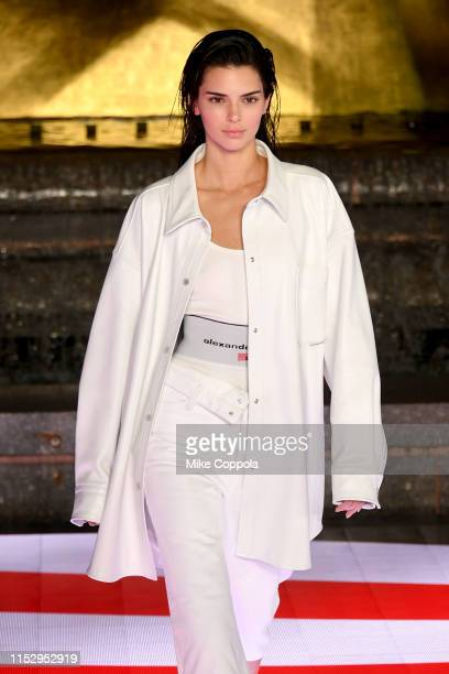 Kendall Jenner walks the runway during the Alexander Wang Collection 1 fashion show at Rockefeller Center on May 31 2019 in New York City