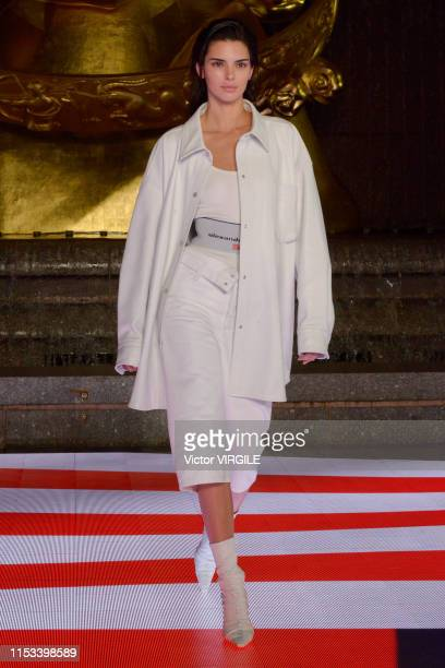 Kendall Jenner walks the runway during the Alexander Wang Ready to Wear Fall/Winter 2019/2020 at Rockefeller Center on May 31, 2019 in New York City.