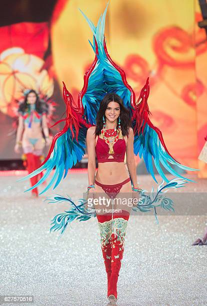 Kendall Jenner walks the runway during the annual Victoria's Secret fashion show at Grand Palais on November 30 2016 in Paris France
