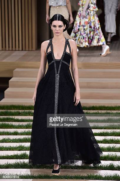 Kendall Jenner walks the runway during the Chanel Spring Summer 2016 show as part of Paris Fashion Week on January 26 2016 in Paris France