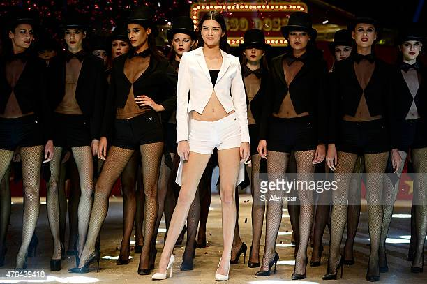 Kendall Jenner walks the runway during the Dosso Dossi Fashion Show on June 9, 2015 in Antalya, Turkey.