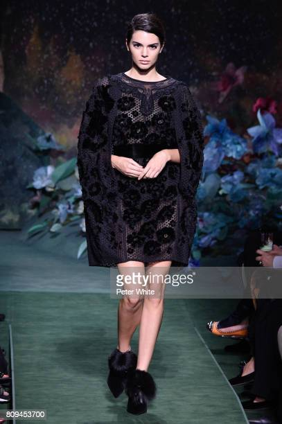 Kendall Jenner walks the runway during the Fendi Haute Couture Fall/Winter 20172018 show as part of Haute Couture Paris Fashion Week on July 5 2017...