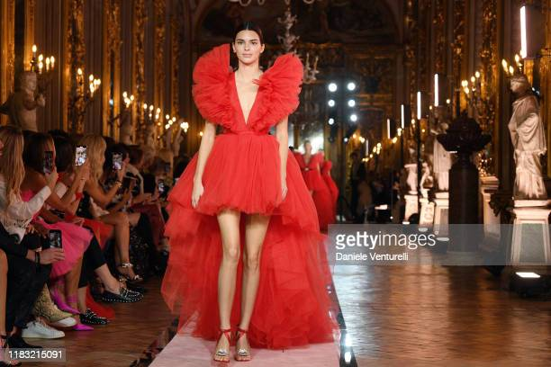 Kendall Jenner walks the runway during the Giambattista Valli Loves H&M show on October 24, 2019 in Rome, Italy.