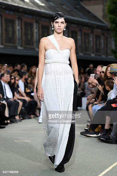 Kendall Jenner walks the runway during the Givenchy Menswear Spring/Summer 2017 show as part of Paris Fashion Week on June 24 2016 in Paris France