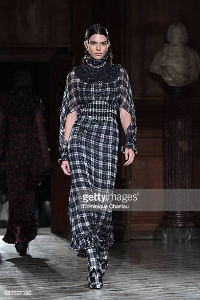 Kendall Jenner walks the runway during the Givenchy Menswear Fall/Winter 20172018 show as part of Paris Fashion Week on January 20 2017 in Paris...