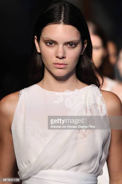 Kendall Jenner walks the runway during the Givenchy show as a part of Spring 2016 New York Fashion Week on September 11 2015 in New York City