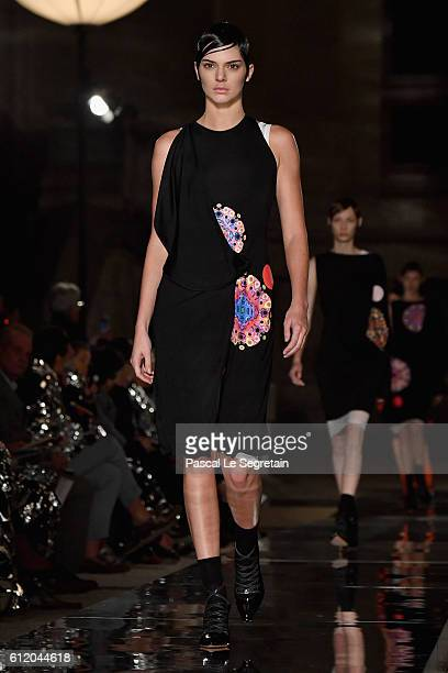 Kendall Jenner walks the runway during the Givenchy show as part of the Paris Fashion Week Womenswear Spring/Summer 2017 on October 2 2016 in Paris...