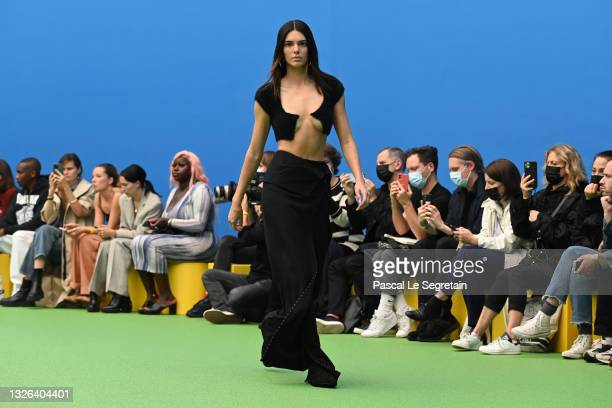 "Kendall Jenner walks the runway during the Jacquemus ""La Montagne"" show at La Cite Du Cinema on June 30, 2021 in Saint-Denis, France."