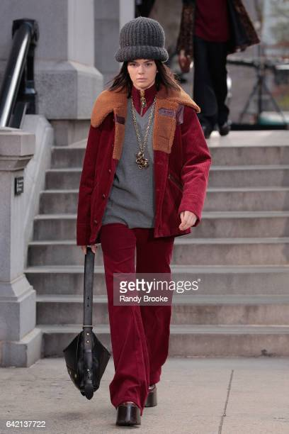 Kendall Jenner walks the runway during the Marc Jacobs Runway show February 2017/ Fall 2017 during New York Fashion Week The Showson February 16 2017...