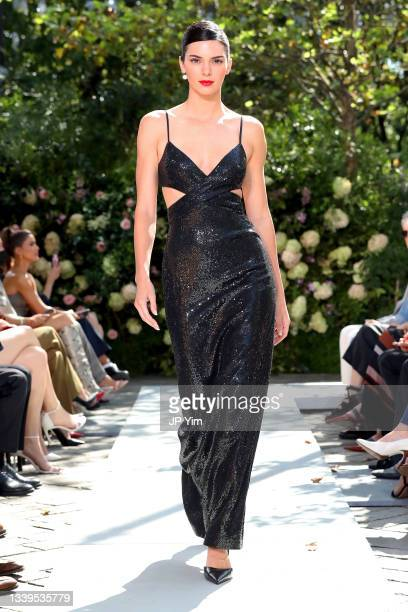 Kendall Jenner walks the runway during the SP22 Michael Kors Collection Runway Show on September 10, 2021 in New York City.