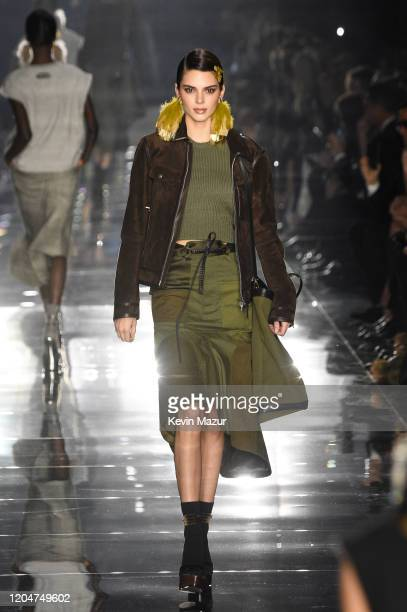 Kendall Jenner walks the runway during the Tom Ford AW20 Show at Milk Studios on February 07, 2020 in Hollywood, California.