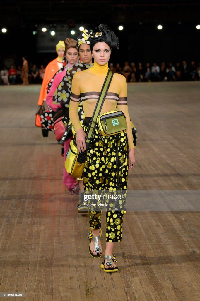 Kendall Jenner walks the runway for Marc Jacobs SS18 fashion show during New York Fashion Week at Park Avenue Armory on September 13, 2017 in New York City.