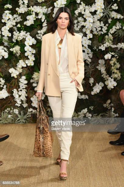 Kendall Jenner walks the runway for Ralph Lauren collection during New York Fashion Week on February 15 2017 in New York City