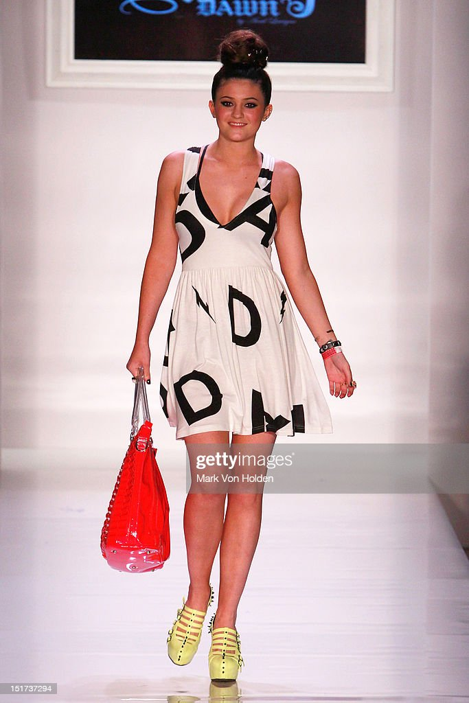 Kendall Jenner walks the runway in the Abbey Dawn By Avril Lavigne Spring 2013 fashion show at Metropolitan Pavilion on September 10, 2012 in New York City.