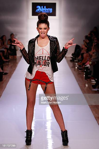 Kendall Jenner walks the runway in the Abbey Dawn By Avril Lavigne Spring 2013 fashion show at Metropolitan Pavilion on September 10 2012 in New York...