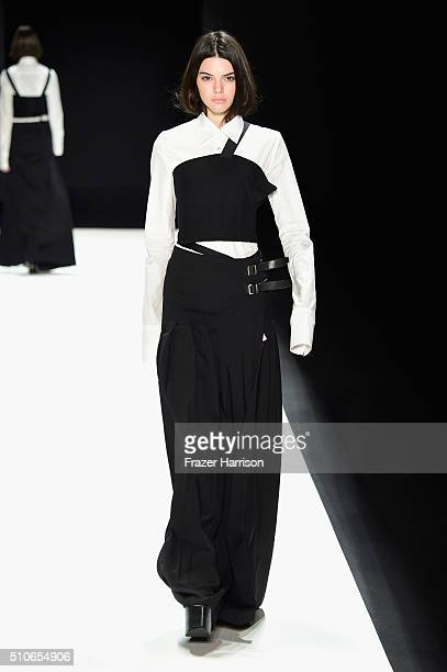 Kendall Jenner walks the runway wearing Vera Wang Collection Fall 2016 during New York Fashion Week The Shows at The Arc Skylight at Moynihan Station...