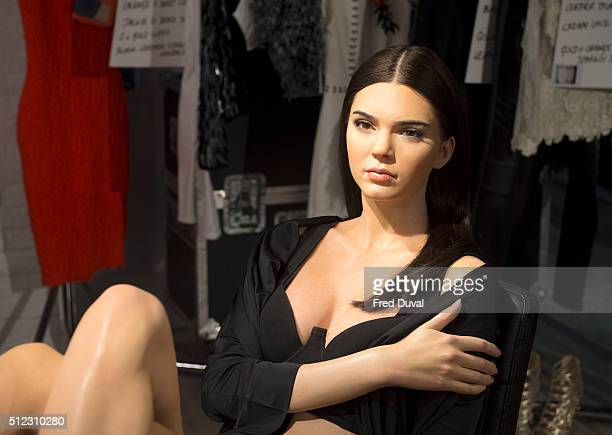 Kendall Jenner wax work at Madame Tussauds on February 23 2016 in London