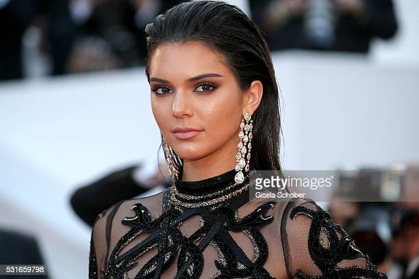 CANNES FRANCE MAY 15 Kendall Jenner wearing Chopard jewelry during the 'From The Land Of The Moon ' premiere during the 69th annual Cannes Film...