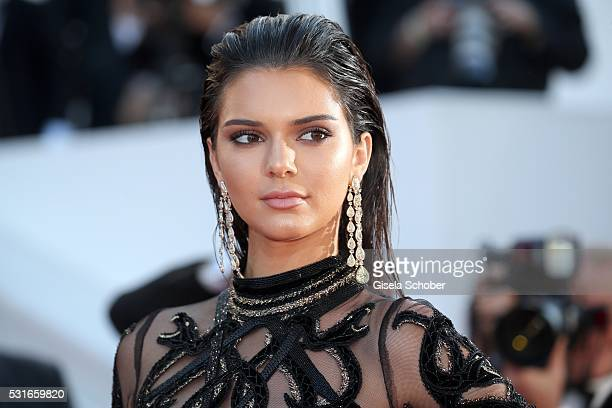 CANNES FRANCE MAY 15 Kendall Jenner wearing Chopard jewelry during the From The Land Of The Moon premiere during the 69th annual Cannes Film Festival...