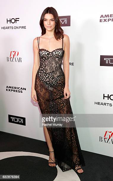 Kendall Jenner wearing La Perla attends Harper's BAZAAR celebration of the 150 Most Fashionable Women presented by TUMI in partnership with American...