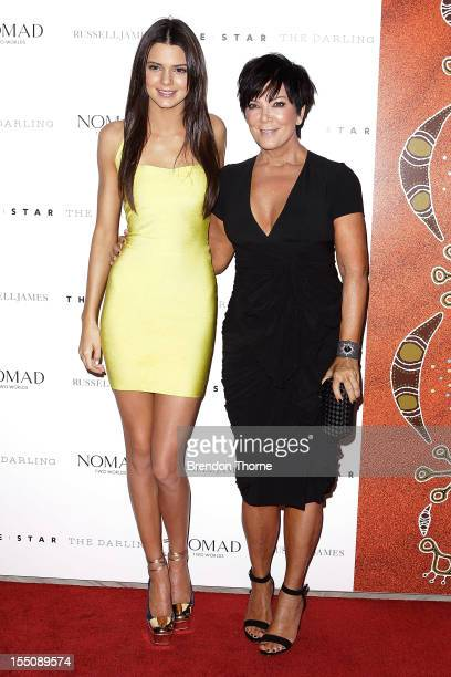 Kendall Kardashian and Kris Jenner arrive at the book launch of Nomad Two Worlds by Russell James on November 1 2012 in Sydney Australia