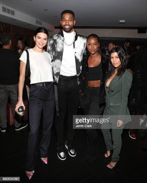 Kendall Kenner Tristan Thompson Justine Skye and Kourtney Kardashian poses for a photo as Remy Martin celebrates Tristan Thompson's Birthday at...