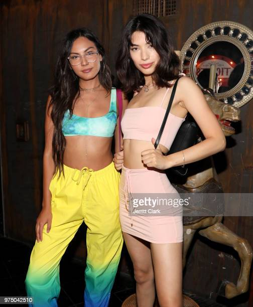 Kendall Marie and Ashely Chung attend Galore SUMMER 2000's Fantasy Issue Party After Party at Madame Siam on June 14 2018 in Hollywood California
