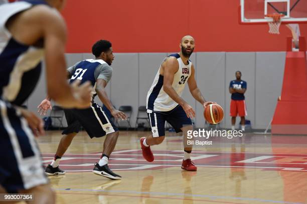 Kendall Marshall of Team USA handles the ball during practice at the University of Houston on June 23 2018 in Houston Texas NOTE TO USER User...