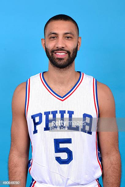 Kendall Marshall of the Philadelphia 76ers poses for a photo during media day on September 28 2015 in Galloway New Jersey NOTE TO USER User expressly...