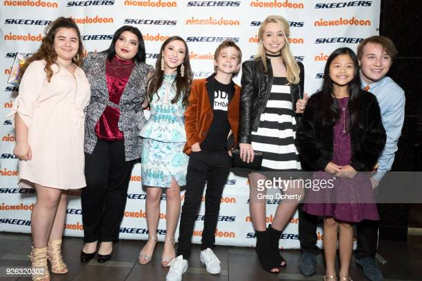 Kendall Monroe Kiana Lyz Rivera Ava Cantrell Parker Bates Kennedy Madison Guest and CJ Valleroy attend the 9th Annual SKECHERS Pier To Pier...