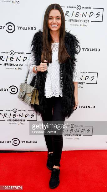 Kendall Rae Knight of Love Island attends Comedy Central's FriendsFest at Heaton Park on August 7 2018 in Manchester England