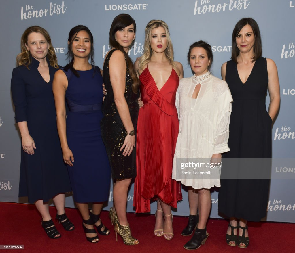Kendall Rhodes, Marilyn Fu, Elissa Down, Meghan Rienks, Liz Destro, and Catherine Goldschmidt attend a special screening of 'The Honor List' at The London Hotel on May 10, 2018 in West Hollywood, California.