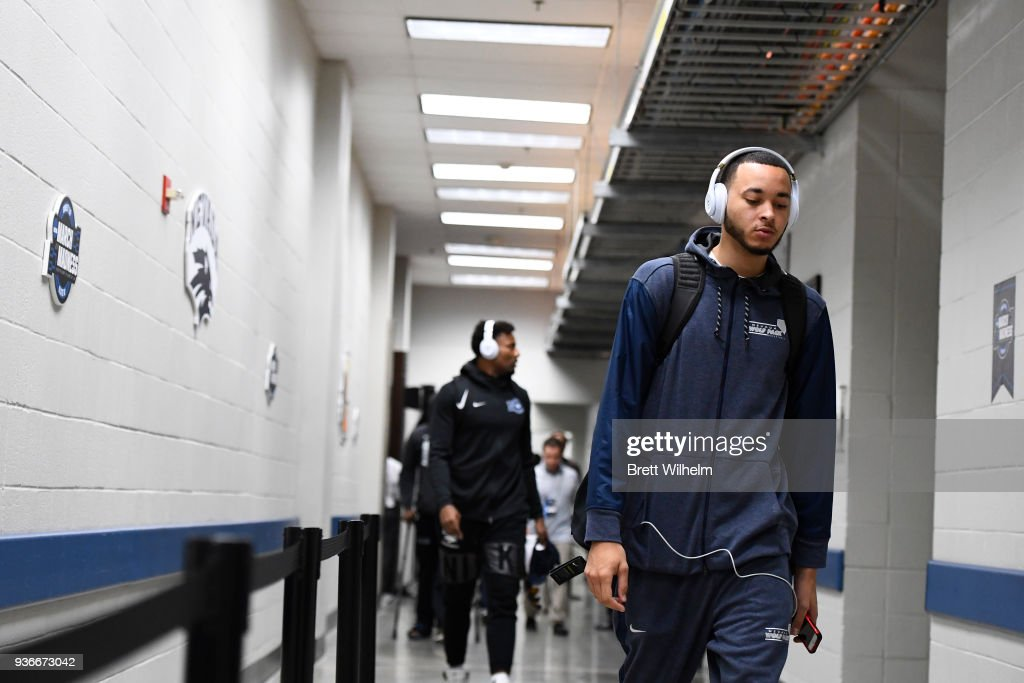Kendall Stephens #21 of the Nevada Wolf Pack walks to the locker room before the third round of the 2018 NCAA Men's Basketball Tournament held at Philips Arena on March 22, 2018 in Atlanta, Georgia.