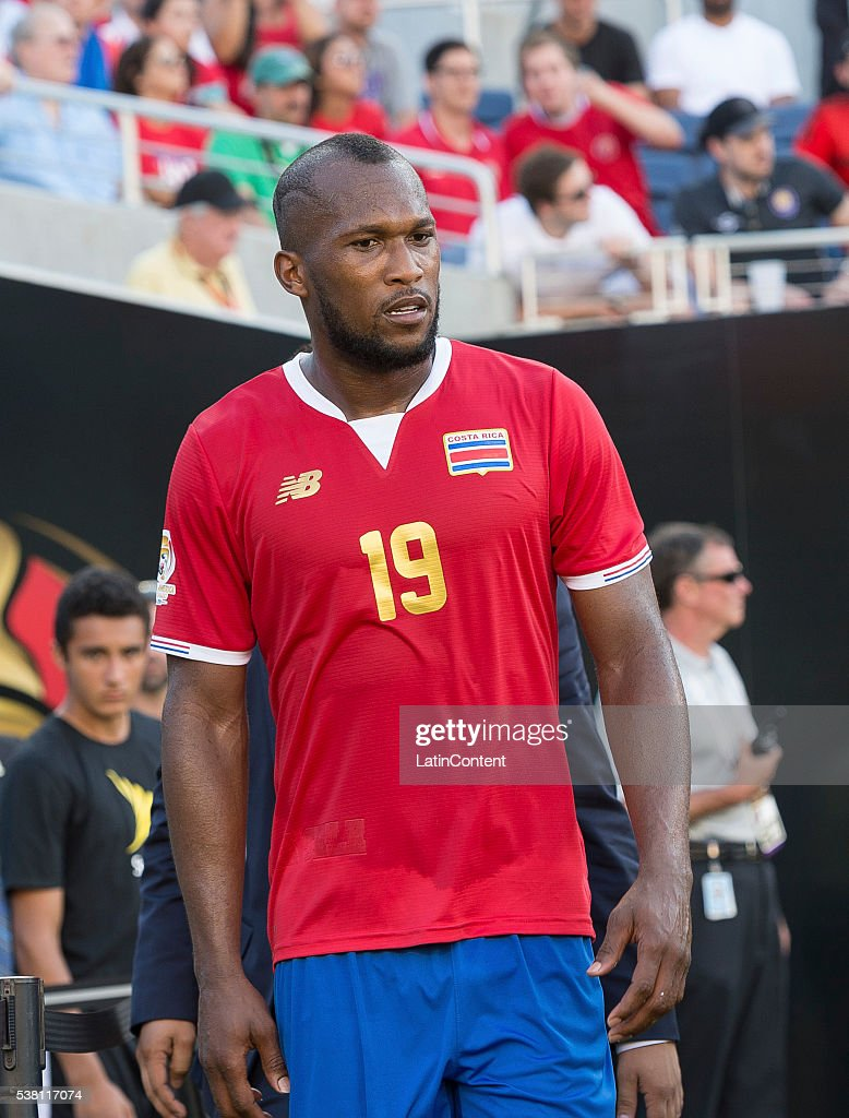Kendall Waston (19) of Costa Rica after being sent off during a match against Paraguay at Camping World Stadium as part of Copa America Centenario US 2016 on June 04, 2016 in Orlando, Florida, US.