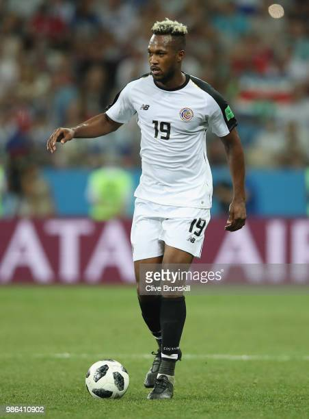 Kendall Waston of Costa Rica in action during the 2018 FIFA World Cup Russia group E match between Switzerland and Costa Rica at Nizhniy Novgorod...