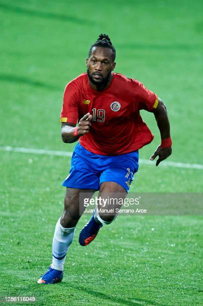 Kendall Waston of Costa Rica in action during the International Friendly match between Euskadi and Costa Rica at Estadio Municipal de Ipurua on...