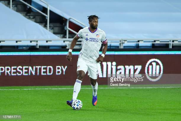 Kendall Waston of FC Cincinnati in action against Minnesota United in the first half of the game at Allianz Field on October 3 2020 in St Paul...