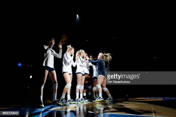Kendall White of Penn State University is introduced prior to the Division I Women's Volleyball Semifinals held at Sprint Center on December 14 2017...