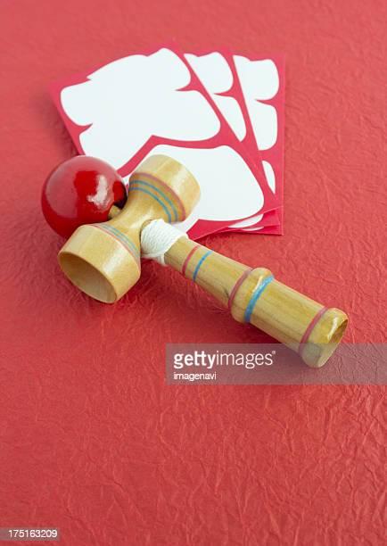Kendama (Cup-and-ball) and Oiri-bukuro (Envelopes for a full-house bonus)